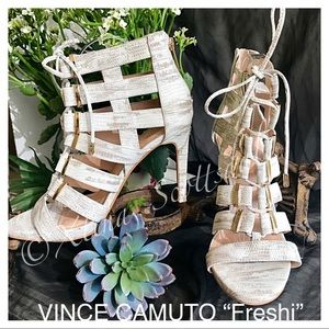 VINCE CAMUTO Leather Cage Style Dress Heels Size 9
